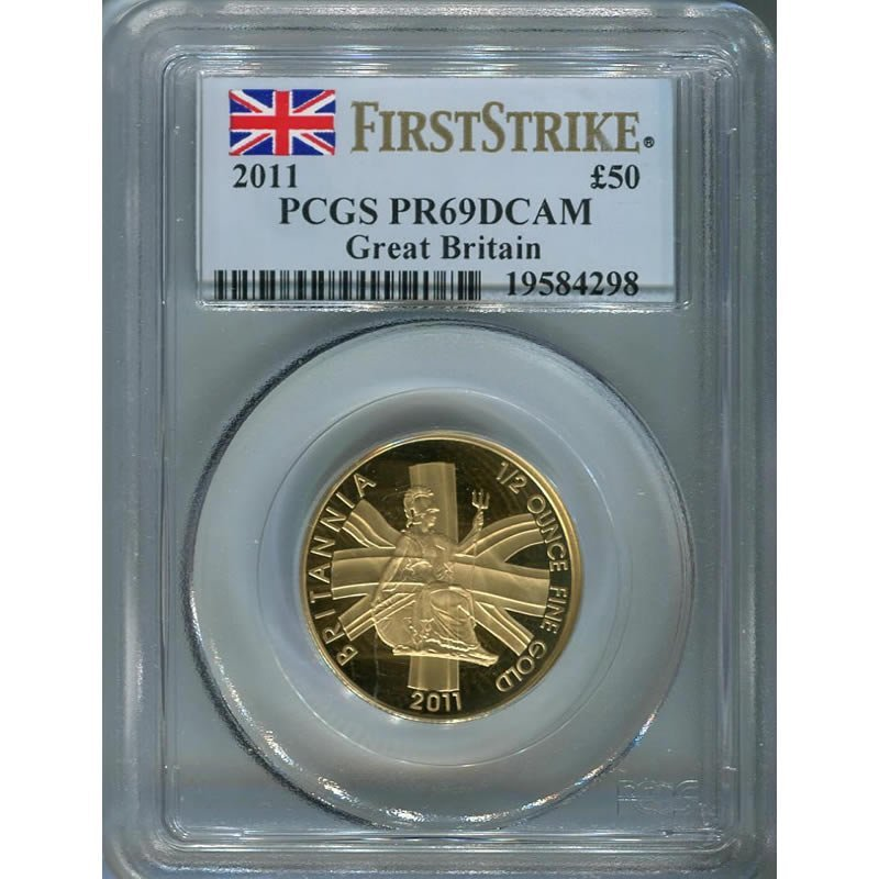 Great Britain 1/2 oz. Britannia 2011, PF69