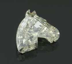 EGL CERT. 0.78 CTW DIAMOND HORSE HEAD I/SI1