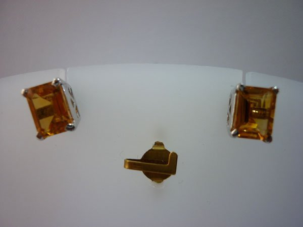 13.50 CTW CITRINE EARRING .925 STERLING SILVER