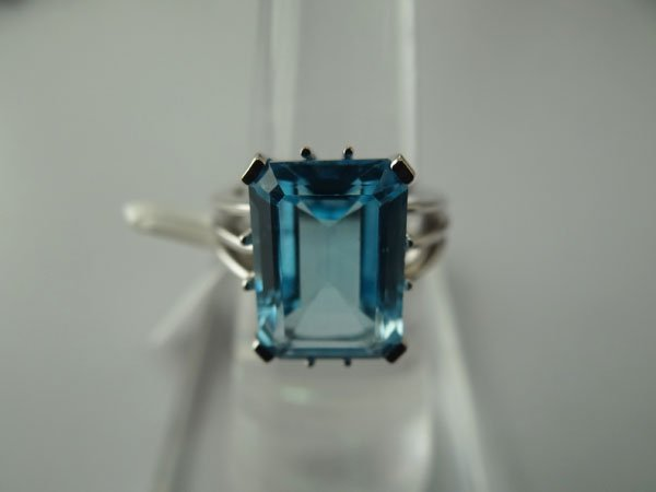 34.00 CTW BLUE TOPAZ RING .925 STERLING SILVER