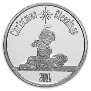 Christmas 2011 Silver Round X-4 Christmas Blessing