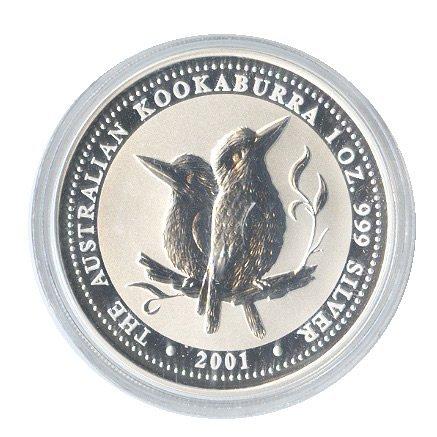 Australian Kookaburra 1 oz. Silver 2001