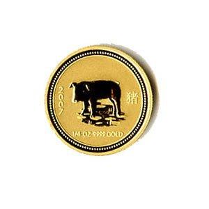 Australian Lunar Gold Quarter Ounce Gold 2007 Pig