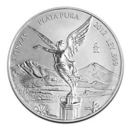 Mexican Silver Libertad 2 Ounce 2012