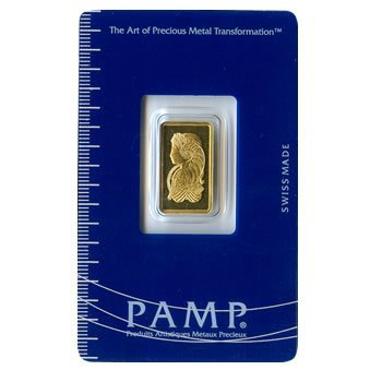 Gold Bars: Pamp Suisse 2.5 Gram Gold Bar