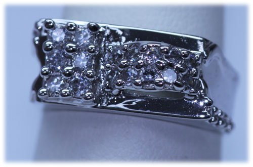 24.00 CTW CZ RING .925 STERLING SILVER