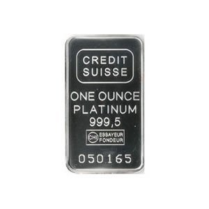 Credit Suisse One Ounce Platinum Bar .9995