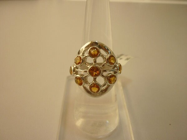 42.50 CTW CITRINE RING .925 STERLING SILVER