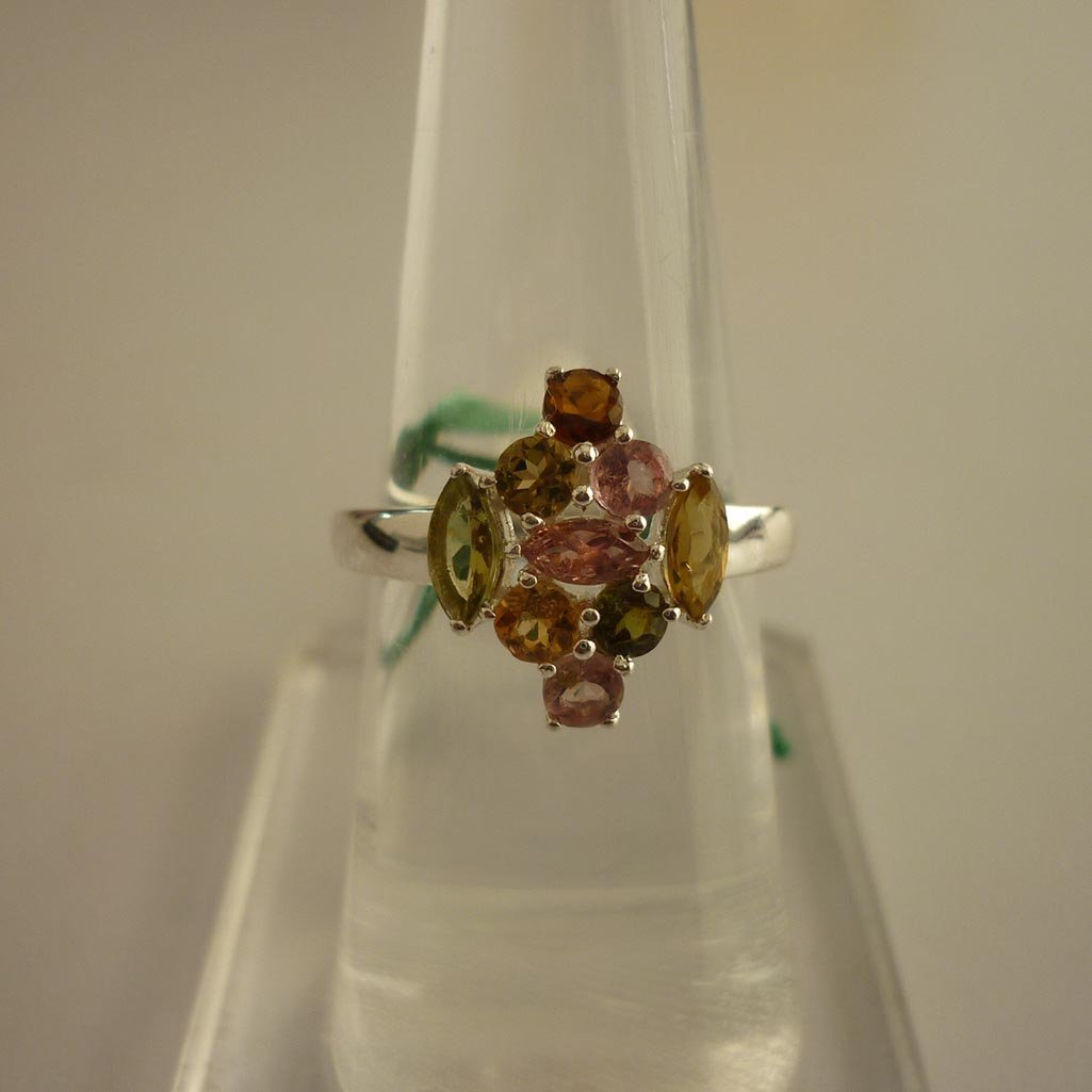 23.85 ctw,SEMIPRECIOUS RING .925 STERLING SILVER