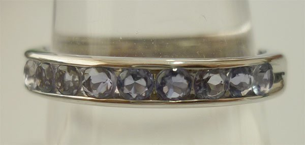 12.50 CTW TANZANITE RING .925 STERLING SILVER