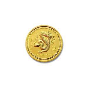 Australian Lunar Gold Twentieth Ounce Gold 2001 Snake