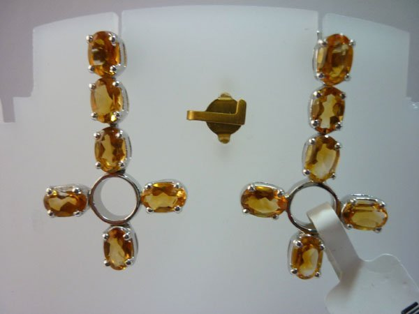 33.25 CTW CITRINE EARRING .925 STERLING SILVER
