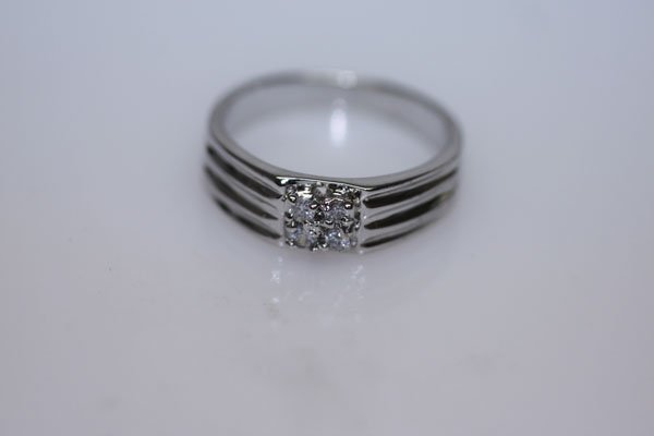 15.4 CTW CZ RING .925 STERLING SILVER