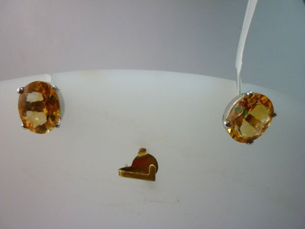 16.00 CTW CITRINE EARRING .925 STERLING SILVER