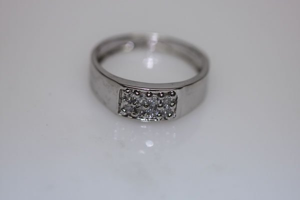 16.2 CTW CZ RING .925 STERLING SILVER
