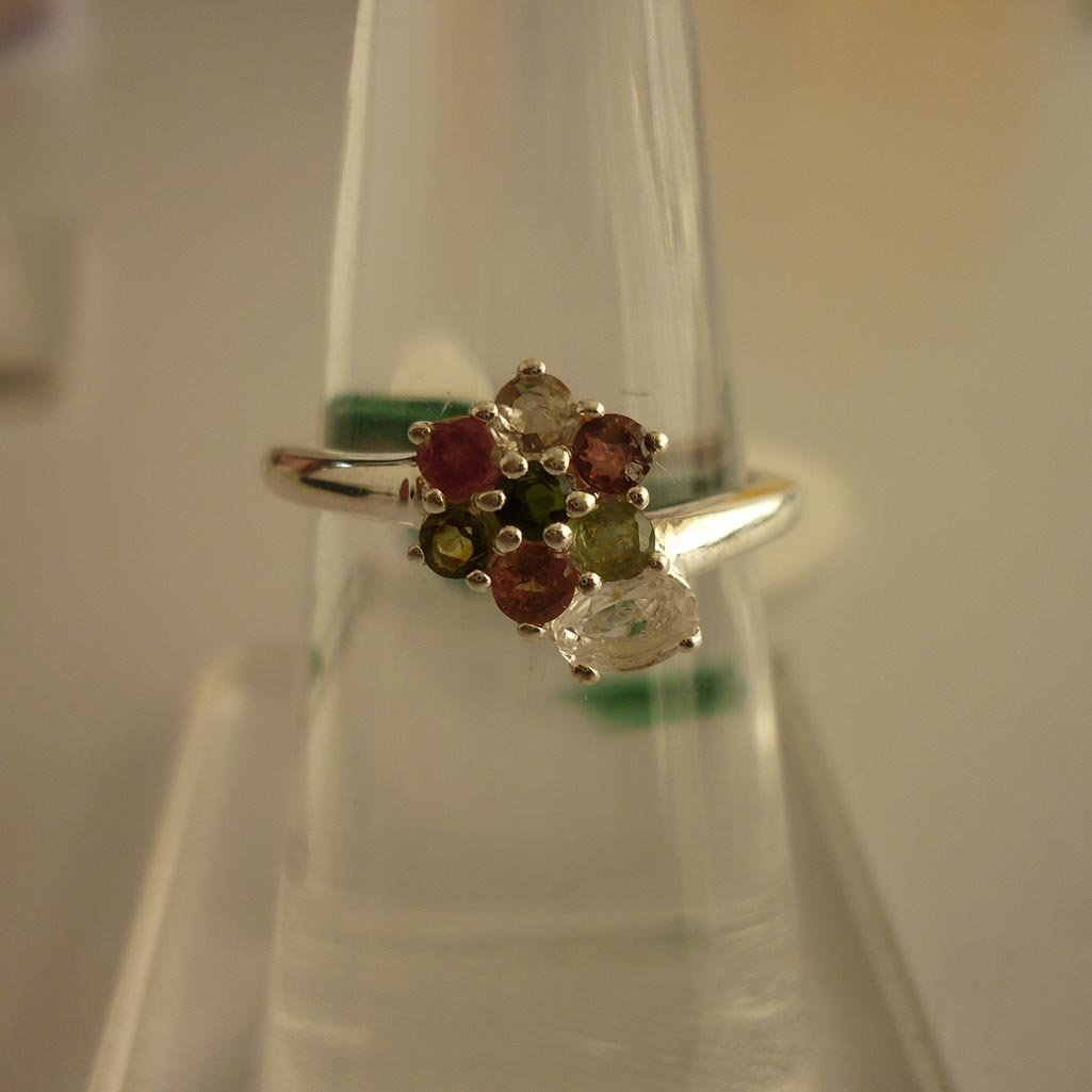 19.75 ctw,SEMIPRECIOUS RING .925 STERLING SILVER