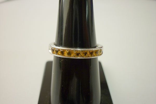 12.50 CTW CITRINE RING .925 STERLING SILVER