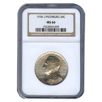 Certified Commemorative Half Dollar Lynchburg 1936 MS66