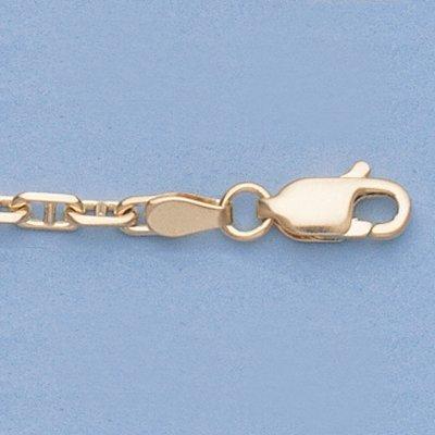 "Genuine 16"" 14k Gold-Yellow 2.7mm Anchor Chain 9g"