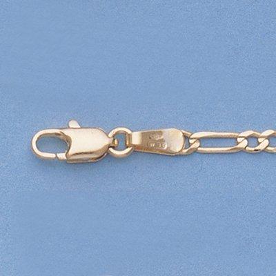 """Genuine 20"""" 14k Gold-Yellow 2.3mm Figaro Chain 4.4g"""