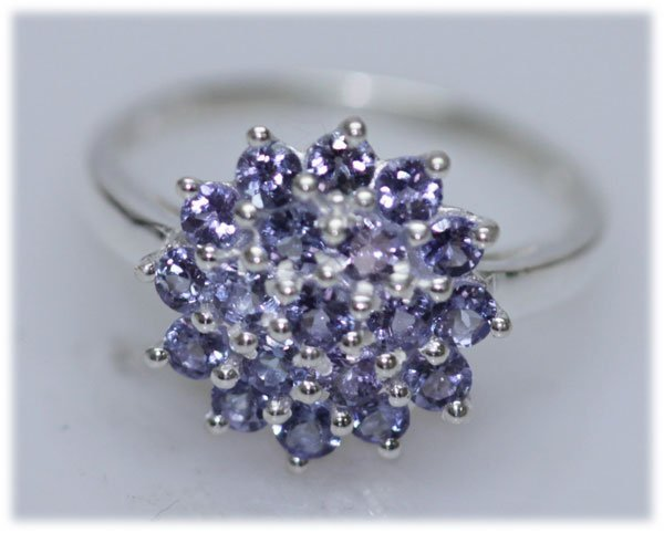 15.21 CTW TANZANITE RING .925 STERLING SILVER