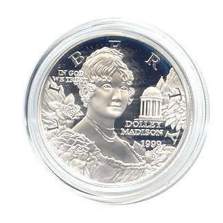 US Commemorative Dollar Proof 1999-P Dolly Madison