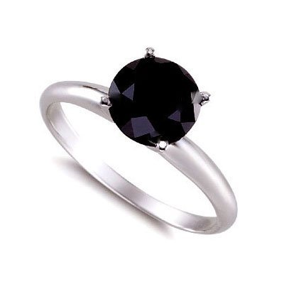 Genuine Black Diamond 2.0 ctw Ring 14K W/Y Gold
