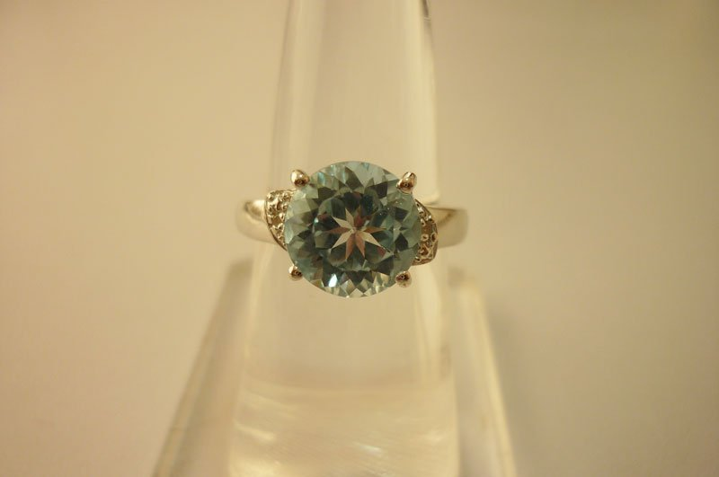 27.30 CTW BLUE TOPAZ Ring .925 Sterling Silver