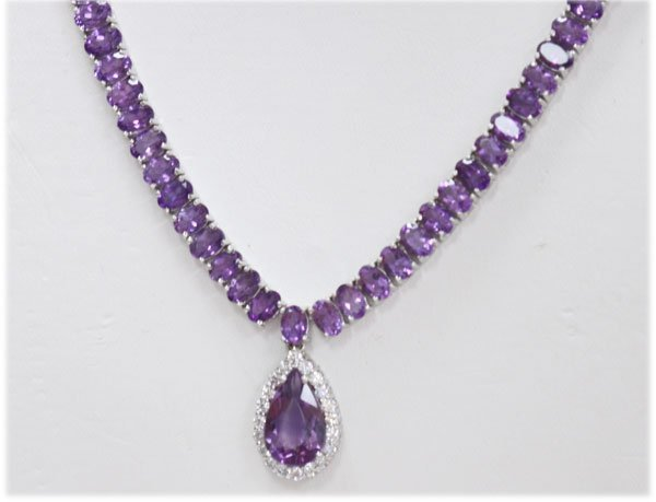 NATURAL 72.00 CTW AMETHYST 18K G Necklace