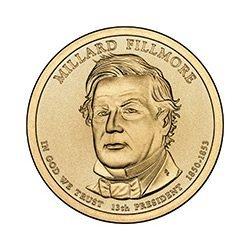 Presidential Dollars Millard Fillmore 2010-P 25 pcs (Ro