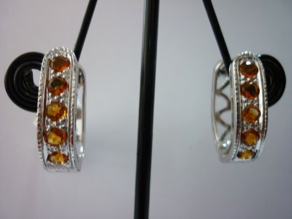 38.00 CTW CITRINE EARRING .925 STERLING SILVER