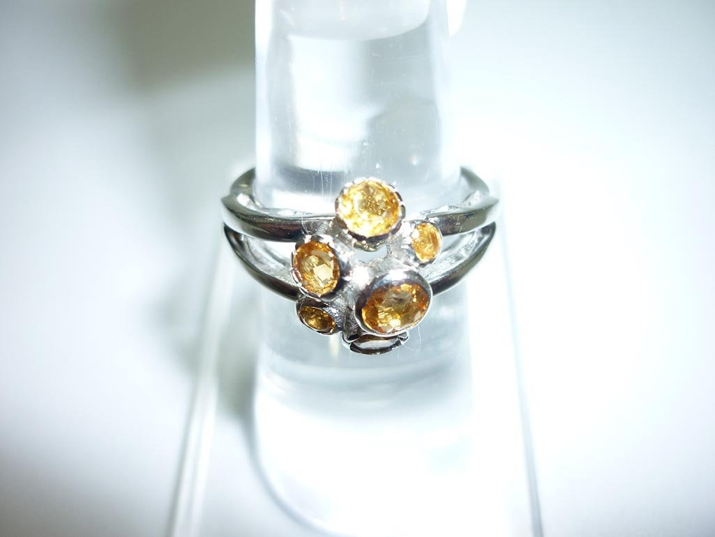 17.00 CTW CITRINE RING .925 STERLING SILVER