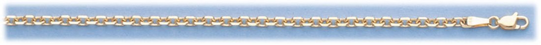 "GENUINE 16"" 14K ITALIAN GOLD D/C BOSTON CHAIN 10 gram"""