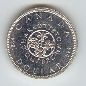 Canada 1964 silver dollar, Charlottetown