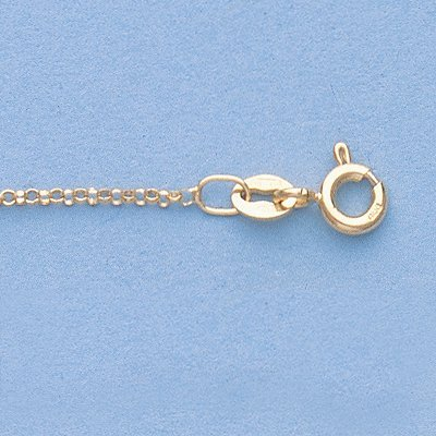 """Genuine 16"""" 14k Gold-Yellow 1.2mm Rolo Chain 16 1.7g"""