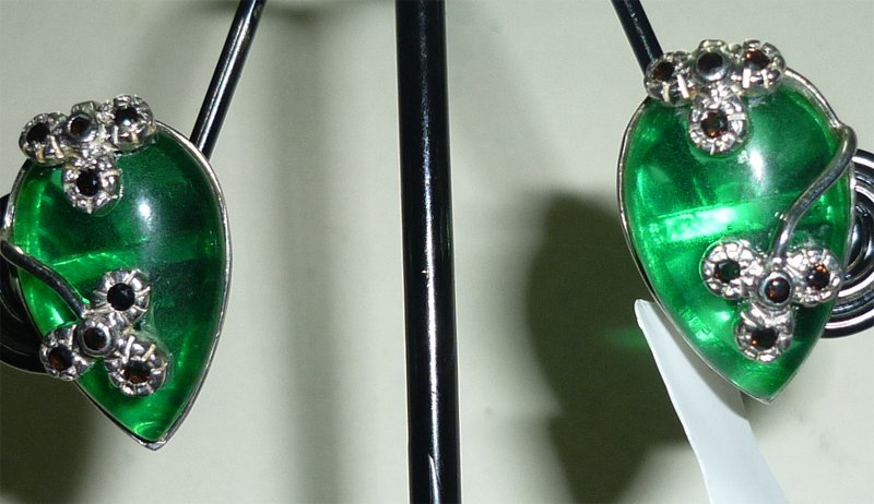NATURAL 41.50 CTW ONEX EARRING .925 STERLING SILVER
