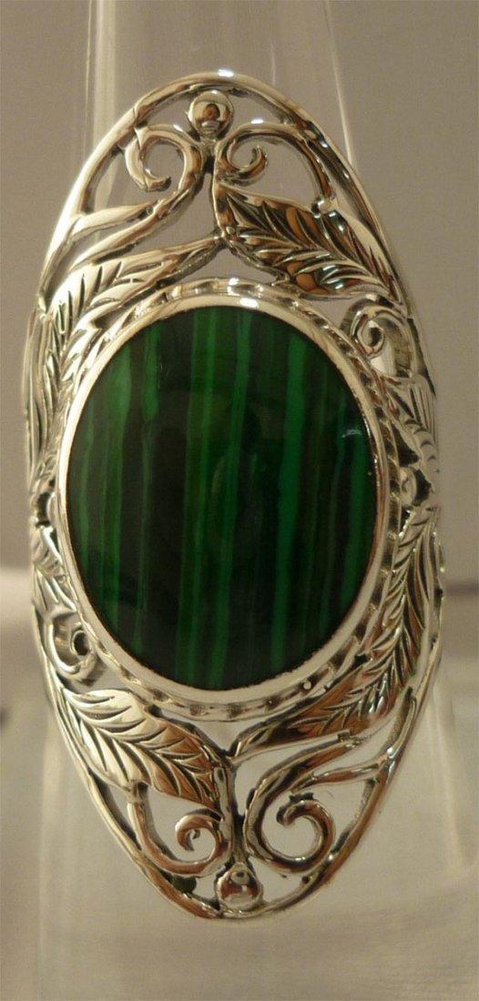 38.10 ctw Melakyte Ring .925 Sterling Silver