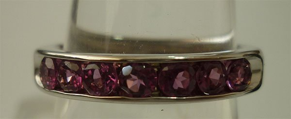 12.50 CTW PINK TOURMALINE RING .925 STERLING SILVER
