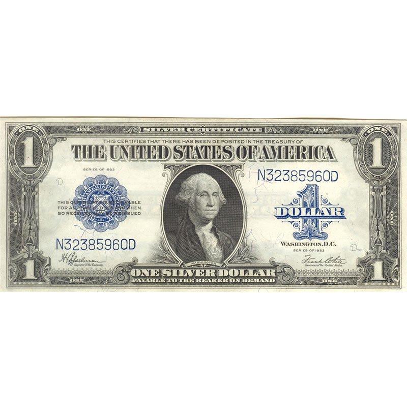 $1 1923 silver certificate, AU