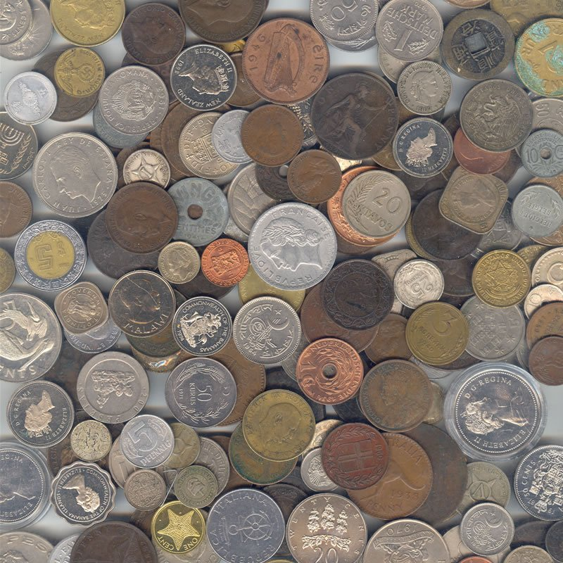World coins, 100 varieties, great mix
