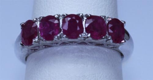 14.50 CTW RUBY RING .925 STERLING SILVER