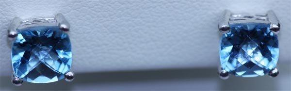 14.50 CTW BLUE TOPAZ EARRING .925 STERLING SILVER