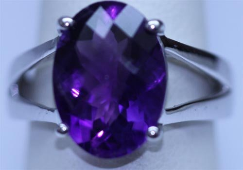 21.20 CTW AMETHYST RING .925 STERLING SILVER