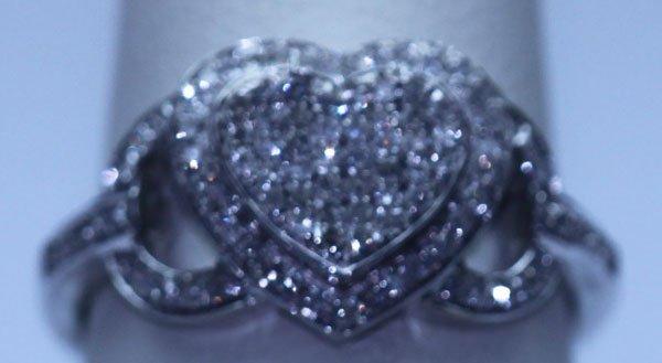 16.65 CTW DIAMOND RING 14K WHITE GOLD