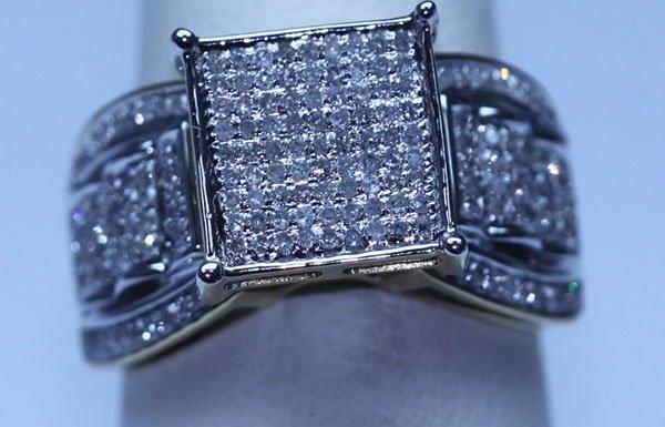 30.10 CTW DIAMOND RING 14K W/Y GOLD