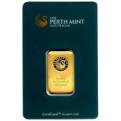 Gold Bars: Perth Mint 20 Gram Gold Bar