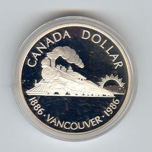 Canada 1986 silver dollar, Vancouver