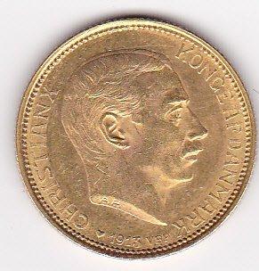 Denmark 20 kroner gold 1913-1917, Christian X