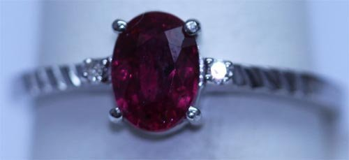 9.00 CTW RUBY AND DIAMOND RING .925 STERLING SILVER