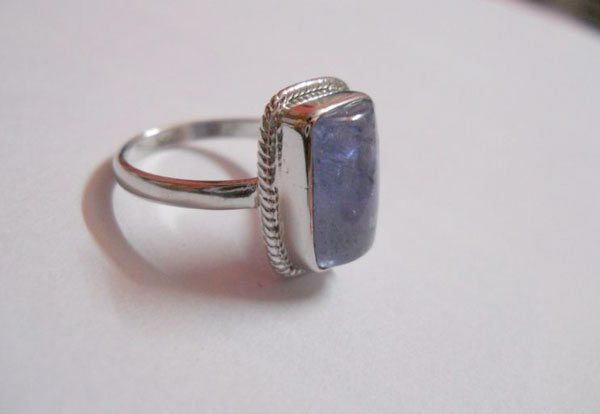 21.75 CTW TANZANITE RING .925 STERLING SILVER